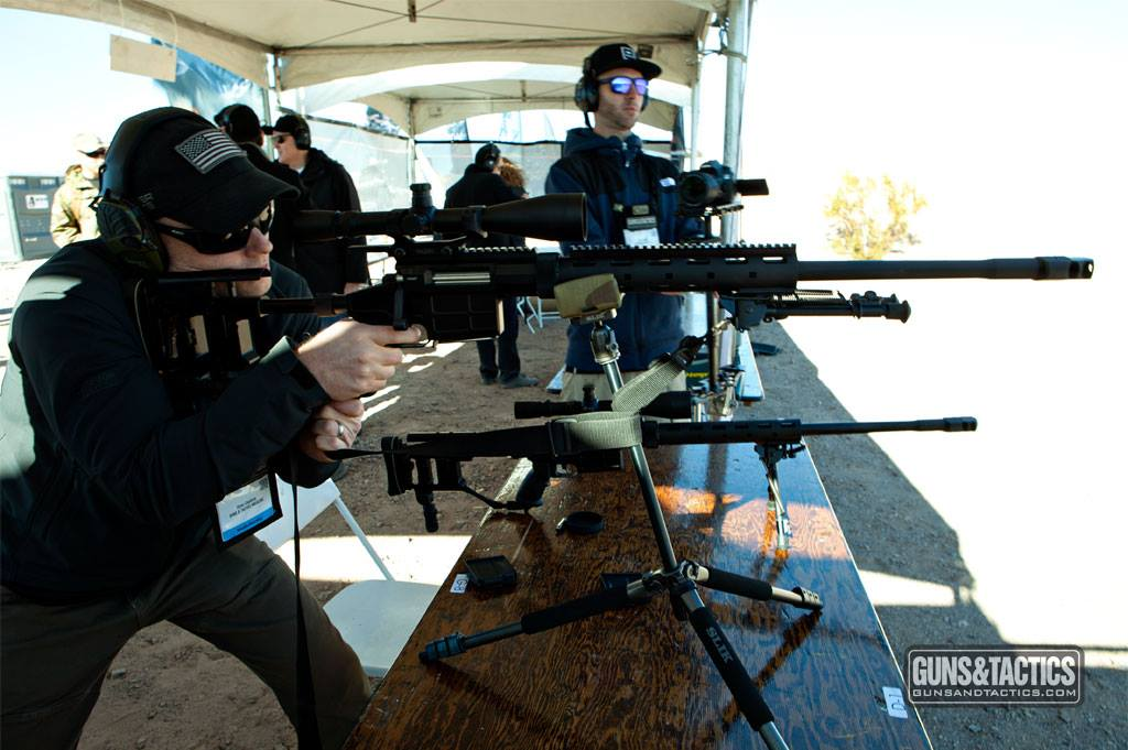Shooting the brand new Caracal USA CS308 with Steve Coulston at SHOT Show Industry Day at the Range.