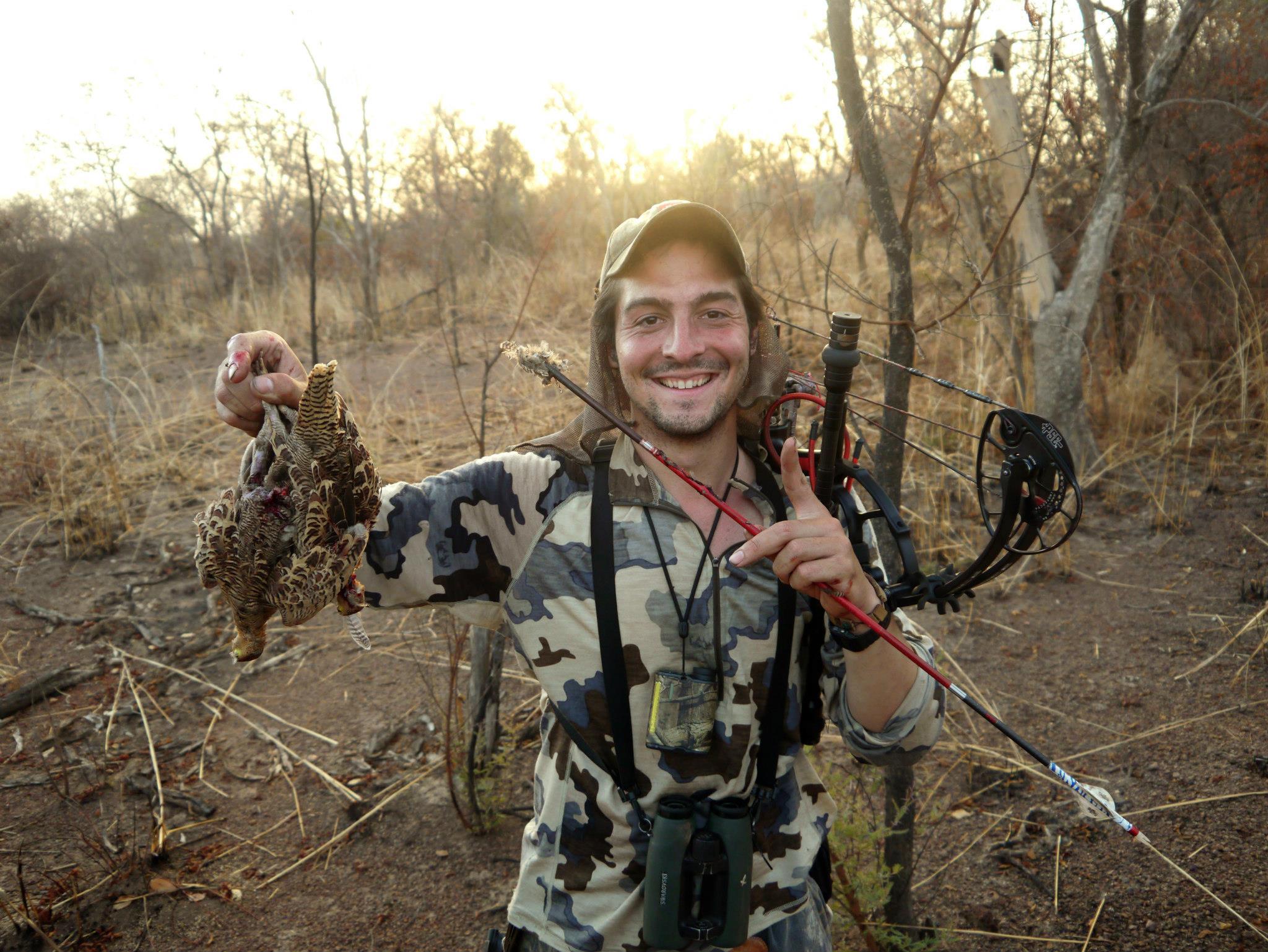 Охота с луком на птицу, на перепела и куропатку