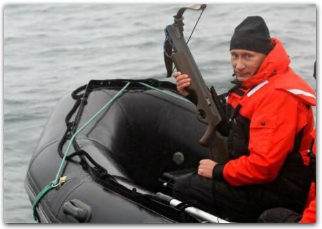 Путин с арбалетом