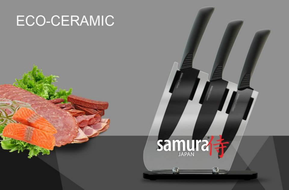 Керамические ножи самура - черные и белые керамические ножи из японии