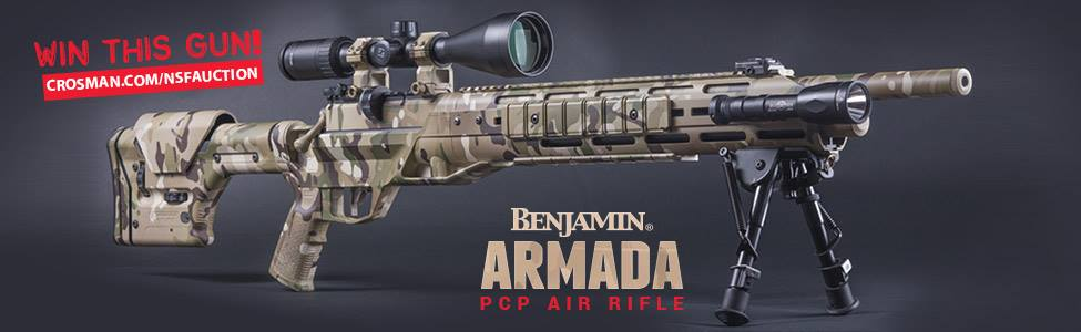 I looovvve hunting with airguns and the new Benjamin Armada is going to be awwweeeesome! Crosman is auctioning off the first production gun and teamed up with industry leaders for a package to benefit the Navy SEAL Foundation