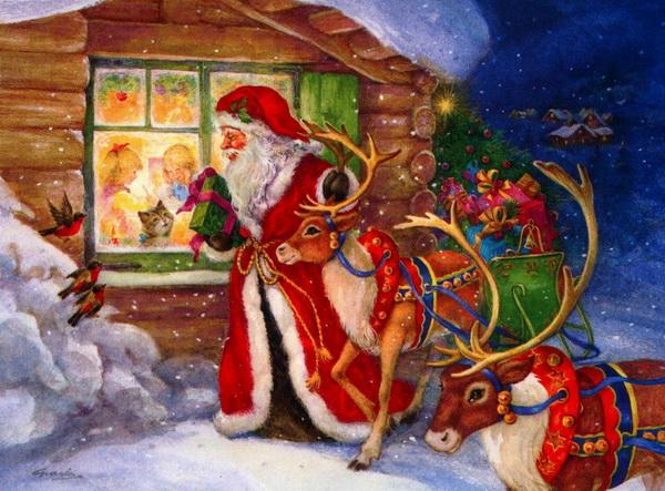 Кого ложат подарки на рождество