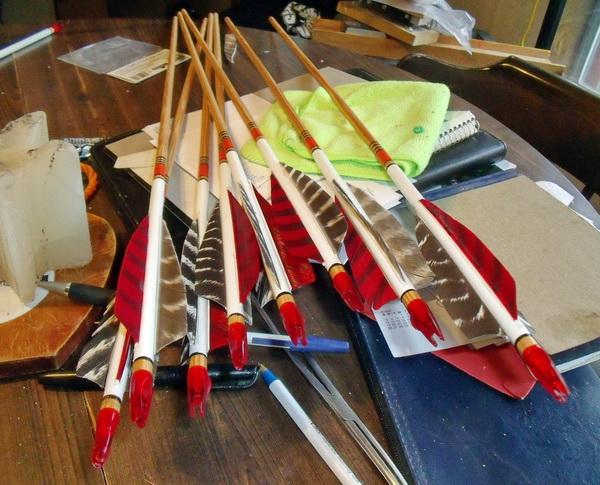Самостоятельное изготовление стрел для лука