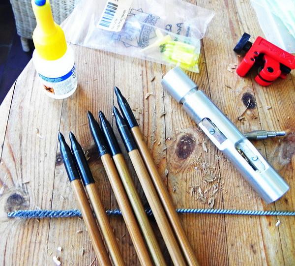 как самому сделать стрелы для лука