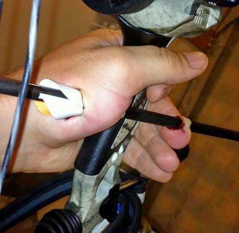 Безопасность при стрельбе карбоновыми стрелами