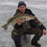 Блёсны на судака зимой, Процесс ловли на блёсны на видео